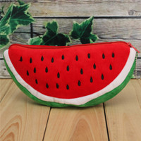 Wholesale Pencil Case Holder For Kids - Wholesale-Red Practical Case Volume Watermelon Kids Pen Pencil Case Gift Cosmetics Purse Wallet Holder Pouch For Student Officer
