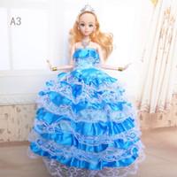 Wholesale Girls Development - Development Intelligence Kids Playmate Barbie Doll Baby Christmas Gift Toys Children Dolls 30 cm Gifts Girls Princess Dream with Dress