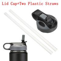 Wholesale Plastic Straw Lid - ForHydr Filp Lids With Straw 32oz Straw Lid Vacuum bottle nozzle cap 5 colors 18oz 40oz 64oz PP Cover Free DHL