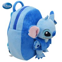 Wholesale Lilo Stitch Plush Backpack - Disney Lilo & Stitch Girls boy School Backpack - 31cm school Plush 100% authentic quality assurance