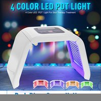 Wholesale Skin Treatments Machines - New 4 Color LED PDT Light Skin Care Beauty Machine LED Facial SPA PDT Therapy For Skin Rejuvenation Acne Remover Anti-wrinkle