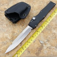 Wholesale Alloy T6 - classic straight jump knife HALO halo spear Maojian blade aluminum alloy T6-6061 Tool holder D2 blade knives