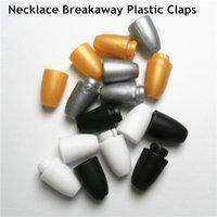ingrosso chiusure in collana-100 pz chiusura di sicurezza per fermagli di collana fai da te chiusura in plastica chew collana gioielli in silicone catenacci di plastica a strappo