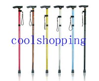 Wholesale Ultra light section Aluminum Alloy Adjustable Canes Outdoor Camping Hiking Walking Sticks Trekking Pole Colors