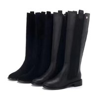 Wholesale Heart Thigh High - fashionville*u675 40 black matte genuine leather rubber knee high flower flat boots c fashion women vogue brand