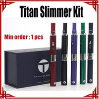 Wholesale Ego Slim - [ sp ] Original Titan Slimmer Pen Kit for Dry Herb Vaporizer Ecig Starter Kit 510 eGo Thread Vapor Kits Glass Tank Electronic Cigarettes Kit