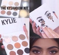 Wholesale Wholesale Powder Usa - Free DHL 2017 new KYLIE Kyshadow Pressed Powder Eyeshadow Cosmetics Bronze Palette 9 colors popular in usa
