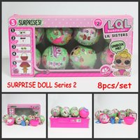 Wholesale Sat Wholesale - 8pcs set Series 2 Surprise Doll LOL Baby Dolls Sleep And Sit Full Body Realistic Baby Dolls SURPRISE DOLL Baby Action Figure Toys
