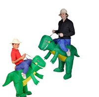 disfraces de animales inflables al por mayor-traje de dinosaurio inflable cosplay operado por ventilador dino jinetes t - rex fiesta de disfraces - traje de fiesta de halloween disfraces de halloween - ventilador
