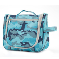 Wholesale Travel Multifunctional Wash Bag - Factory Direct Wholesale Canvas Camouflage Portable Multifunctional Cosmetic Makeup Bag Case Travel Toiletry Wash Bag ELB030