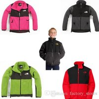Wholesale Winter Warm Child S Coat - The North Children Winter Fleece Jacket Outwear Boys and Girls Outdoor Sports Warm Coat Fashion Hooded Coat for Kids Free DHL