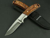 kizarma sabit bıçak av bıçakları toptan satış-Koleksiyon Browning 338 Sabit Bıçak Bıçak 3Cr13Mov 56HRC Çelik Bıçak Ahşap Kolu Avcılık Survival Taktik Kurtarma Pocket Knife Yardımcı EDC