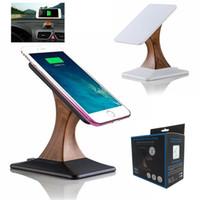 mobil standı not et toptan satış-Qi Kablosuz Şarj Ekran Standı iphone X 8 için Samsung Galaxy S8 S7 Not 8 Dönen Cep Telefonu için Kablosuz Şarj Tutucu