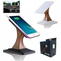 mobiltelefone displayhalter stehen großhandel-Qi Wireless Charging Display Stand für iPhone X 8 für Samsung Galaxy S8 S7 Note 8 Handy Wireless Charger Holder drehen