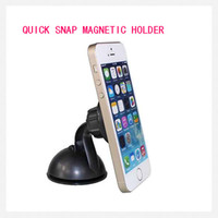 Wholesale Wholesale Iphone Phone Snap - iMagnet Cradle-less Universal Car Phone Mount with Quick-snap Technology magnetic Car Mount for iPhone Samsung GPS PDA Car Phone Holder