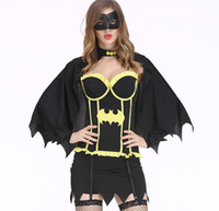 Wholesale women halloween costumes santa - High Quality Sexy Women Halloween Christmas Dress Devil Chrismas Cat Lady Costumes Cosplay Party Women