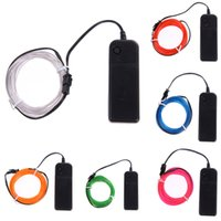 1m / 2m / 3m / 5m Neon Light Dance Party Decor Lumière Neon lampe LED Flex flexible EL Wire Rope Tube étanche bande LED