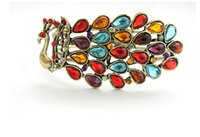 Wholesale Cheap Jade Bracelets - F23 fashion palace retro peacock colorful gemstone bracelet Phoenix Cheap Gifts
