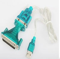 Wholesale Db25 Rs232 Cable - Free Shipping New P4PM USB 2.0 To RS232 Com Port 9 PIN SERIAL DB25 DB9 Adapter Cable Converter