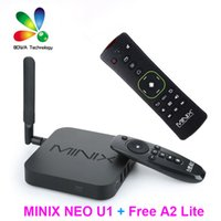 Caixa de TV MINIX NEO U1 + Caixa de TV Android 5.1 A2 livre Amlogic S905 Quad-core 4K HD 2G 16G Google TV Media Player