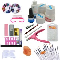 kit caffè New Pro 36W Rosa Lampada UV 12 pezzi Gel colorato UV Top Coat Nail Cutter Primer Base Gel Nail art