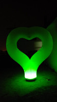 Wholesale inflatable heart for Valentine s day wedding party decoration with colorful led