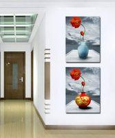 lona contemporânea da flor venda por atacado-Pinturas de flores bonitas contemporânea Giclee Print em Canvas Wall Art Home Decor Set20149