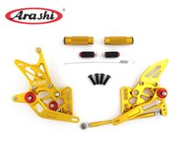 Wholesale Gsxr Foot Pegs - Arashi CNC Adjustable Rear Set Rearset Footrest Foot Peg Footpeg For Suzuki GSXR1000 GSX R1000 GSX-R1000 GSXR 1000 2005-2006