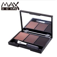 Wholesale Eyebrow Coloring - Authentic MAXDONA Three Color Eyebrow Powder Durable Waterproof Anti-perspiration Natural 3 color is the real thing easy coloring