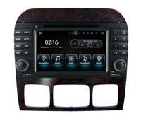 jogador mercedes venda por atacado-Octa núcleo Android9.0 PX5 RAM 4G ROM 32G Carro DVD GPS Na vigation para Mercedes Benz S Classe W220 S220 S320 S350 S420 S420 S430 Rádio Estéreo