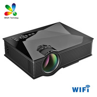 Nouveau 1200 Lumens UNIC UC46 + UC46 Portable HD LED Mini Pocket WIFI Wireless Miracast Airplay Dlna Mobile Handheld Home Projector Beamer DHL