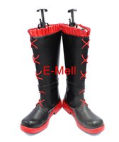 Wholesale Rwby Ruby Rose Costume - Wholesale-RWBY Ruby Rose Boots Cosplay Women's shoes Custom Made Halloween High Quality
