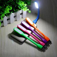Wholesale Flexible Laptops - Xiaomi USB LED Lamp Light Portable Flexible Lamp for Notebook MACBOOK Laptop Ipad Tablet USB Power Gadget Portable Bendable Lights 8 Colors