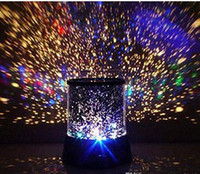 Wholesale Project Lamps - Projecting lamp Colorful Cosmos Stars laser-LED projector Star Projector Lamp LED Night light lantern romantic Gifts toy for children