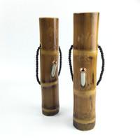 bambu boruları toptan satış-10.5 Inç Bambu Recycler Petrol Kuleleri Su Bongs Sigara Mini Yağı Rig Bambu Bongs Su Boru Kalın Sigara Boruları Nargile