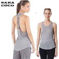 Wholesale Women Apparel Shirt - Wholesale-Quick Dry Womens Yoga Shirts Woman Running Shirt Cool Gym Shirts Yoga Apparel Tank Tops Fitness Clothes Ladies Yoga Tops Female