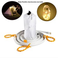 Wholesale Traffic Lamps - Multifunction 5V LED Waterproof Hiking Camping Emergency USB Strip Light Warm White White Light RGB Strip Tent Lamp Rope