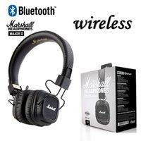 ingrosso basso rock-Marshall Major II 2 2nd Generation Cuffie Bluetooth senza fili Cuffie a cancellazione di rumore Cuffie per bass-deep DJ HiFi cuffie