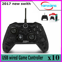 10pcs Fashion Black USB Wired Game Controller para Switch fácil de segurar Switch wired handle Compatível para SWITCH Host BX-zy-1