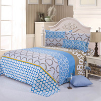 Wholesale Print Size A2 - home textile brick flannel comforter bedding-set sabanas 4 pcs of bed linen duvet cover bed sheet king size A2 Free shipping