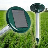 Energia solare Snake Repeller Pest Dispositivo repellente w LED per Gopher Mole Mouse Roditore Voles Rat