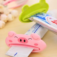 Wholesale Cartoon Toothpaste Sale - SALE!! 1 PCS Cartoon Animal Toothpaste Squeezer Bath Toothbrush Holder Tools Dispenser Squeezing Bathroom Set Accessories