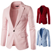 Wholesale men cotton white suit resale online - Fashion Brand Designer Casual Suits Men Cotton Lapel Neck Men s Suits Knitted Jacket Slim Man Blazer
