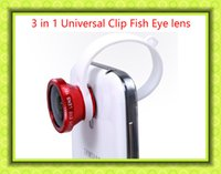 3 in 1 Handy-Objektive Fisheye-Objektiv Universal-Weitwinkel-Mikrolinse für iPhone Samsung Mobile Smart Handy