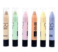 Wholesale Color Hid - 6 color Hide Blemish Dark Circle Face Eye Foundation Concealer Pen Stick Makeup Menow Cosmetic Concealer Camouflage Pencil