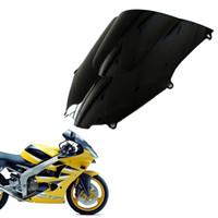 Wholesale Double Bubble Windshield - Double Bubble Windscreen Windshield Shield for Kawasaki Ninja ZX9R 2000 2001 2002 2003 2004 2005