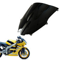 zx 9r toptan satış-Marka yeni 2000-2003 Kawasaki Ninja ZX-9R Için ABS Siyah Cam Kalkan Motosiklet