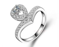 anéis de diamante tamanho 6.5 venda por atacado-Anel de Tamanho grande Coroa 0.3CT Jóias Noivado de Dedo Sintético Diamantes Anel de Jóias para As Mulheres de Prata Esterlina anel de Jóias