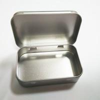 Wholesale Food Card - Plain Silver Tin Box 95x60x21mm Rectangle Tea Candy Mint Business Card USB Storage Box Case Wholesale wen4665