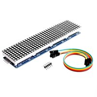 Wholesale Dot Matrix Arduino - Wholesale-Free Shipping MAX7219 Dot Matrix Module For Arduino Microcontroller 4 In One Display with 5P Line